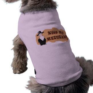 Kiss My MEZUZAH - Funny Jewish Tshirt Dog Tee