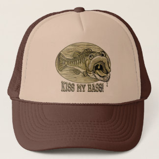 Kiss My Mounted Bass by Mudge Studios Trucker Hat