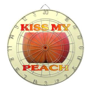 Kiss My Peach. Funny Dartboard