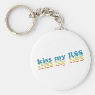 Kiss My RSS Basic Round Button Keychain