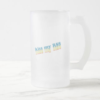 Kiss My RSS Frosted Glass Beer Mug