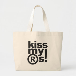 kiss my ®s Jumbo Tote Bag