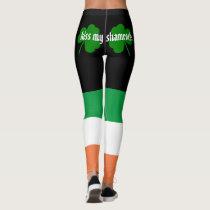 Kiss my shamrocks St. Patrick's Day Leggings