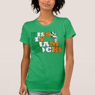 Kiss My Shamrocks St Patricks Tshirts