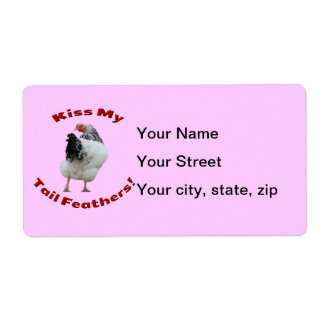 Kiss My Tail Feathers Shipping Labels