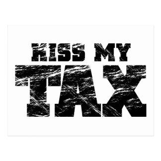 Kiss My Tax Postcard
