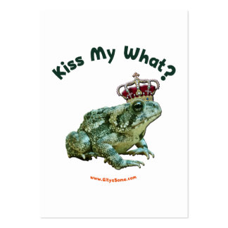 Kiss My What Frog Toad Prince Large Business Cards (Pack Of 100)