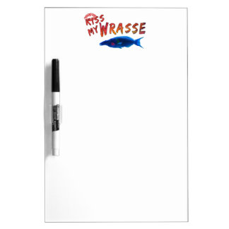 Kiss My Wrasse Fish #2 Dry Erase Board