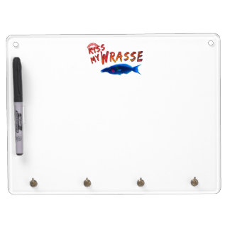 Kiss My Wrasse Fish #2 Dry Erase Board With Keychain Holder