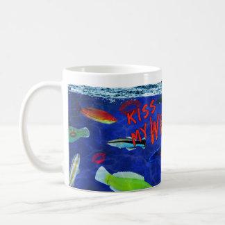 Kiss My Wrasse Fish Coffee Mug