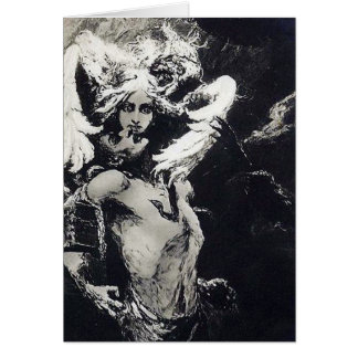 Kiss of Medusa - Wilhelm Kotarbinski Greeting Card