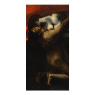Kiss of the Sphinx by Franz von Stuck Card