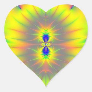 Kiss of the Sunfish Fractal Heart Sticker