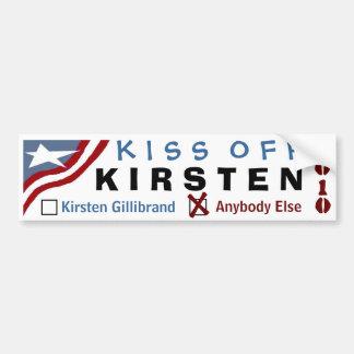 Kiss Off Kirsten Car Bumper Sticker