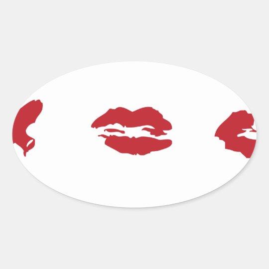 kiss oval sticker