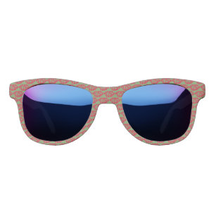 acd7fc48f4c Kiss Pattern Red Lips Green Background Sunglasses