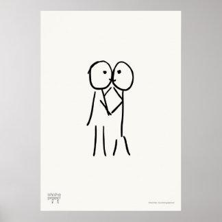 Kiss Poster - Love Illustration