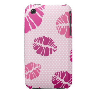 Kiss print pattern iPhone 3 cover