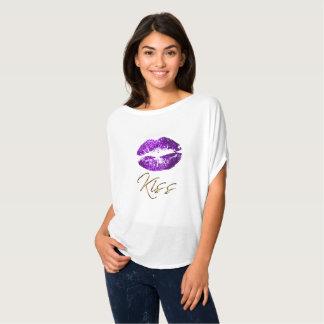 Kiss - Purple Glitter Lips T-Shirt