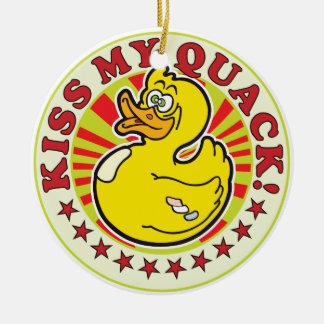 Kiss Quack R Ceramic Ornament