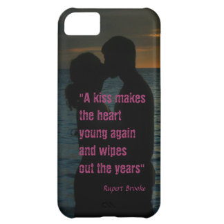 Kiss quote Rupert Brooke love background Cover For iPhone 5C