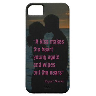 Kiss quote Rupert Brooke love background iPhone SE/5/5s Case