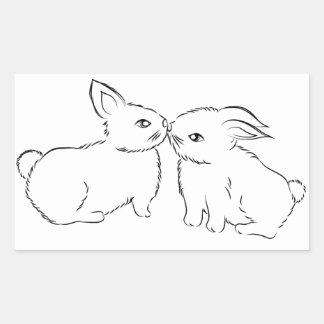 Kiss Rectangular Sticker