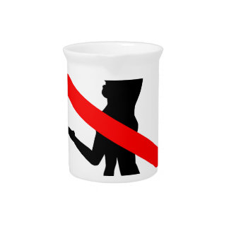 Kiss Road Sign Pitcher