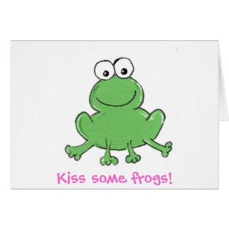 Kiss some frogs! notecard