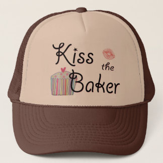 Kiss the Baker Trucker Hat