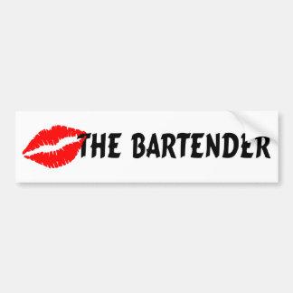 Kiss The Bartender Bumper Sticker