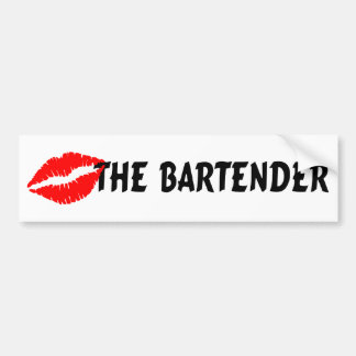 Kiss The Bartender Car Bumper Sticker