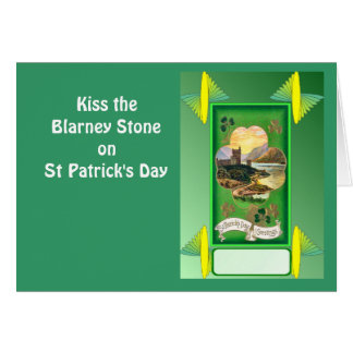 Kiss the Blarney Stone on St Patrick's Day Card