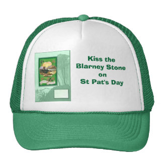 Kiss the Blarney Stone on St Pat's Day Mesh Hats
