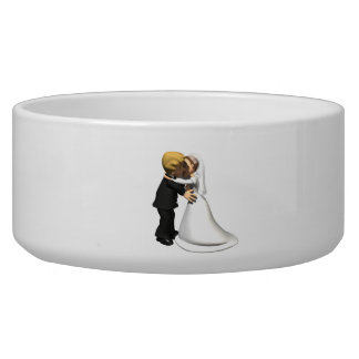 Kiss The Bride 2 Dog Food Bowl