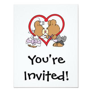 kiss the bride groom teddy bears card