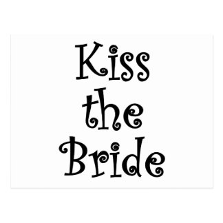 Kiss the Bride Postcard