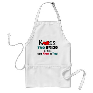 Kiss the Bride T-shirts and Gifts Adult Apron