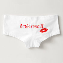 Kiss the Bridesmaid Red Lipstick Kiss Hot Shorts