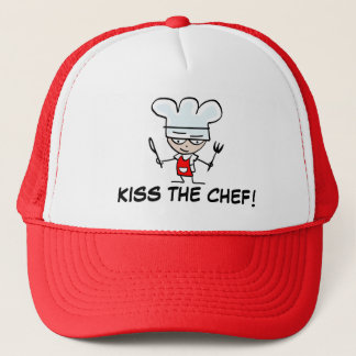 Kiss the chef | Funny bbq hat for men