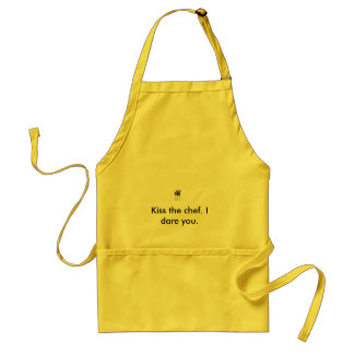 Kiss the chef. I dare you. Adult Apron