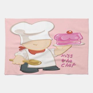 "Kiss the Chef Kitchen Towel 16"" x 24"""