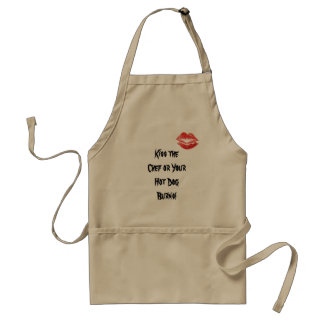 Kiss the Chef or Your Hot Dog Burns! Adult Apron