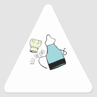 Kiss The Chef Triangle Stickers