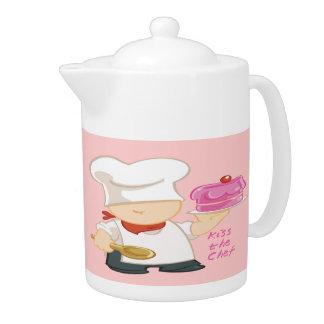 Kiss the Chef Teapot