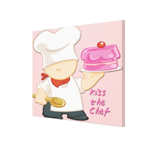 Kiss the Chef Wrapped Canvas
