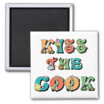 Kiss the Cook 2 Inch Square Magnet