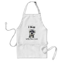 Kiss the Cook Apron Schnauzer
