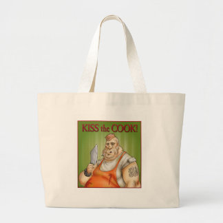 Kiss the Cook Tote Bags