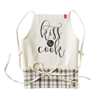 Kiss the Cook | Black Modern Calligraphy Apron